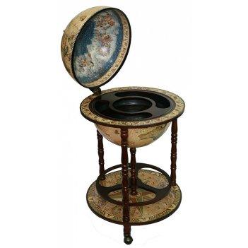Глобус бар сокровища древнего мира напольный d=42см, 50*50*9