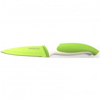 Нож для овощей atlantis, 9 см, салатовый