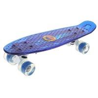 Скейтборд yb-2406 светящийся, колеса pu d= 6см, abec 7, цвета микс