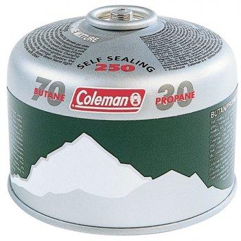 203087 картридж газовый coleman c250 (резьбовой, клапанный, 220г., до -25)
