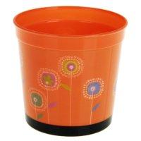 Кашпо круглое оранжевое настроение, 7,5*7,5*7 см