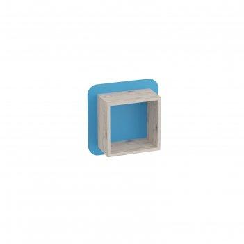 Полка навесная малая скаут дуб бонифаций/софт тач индиго