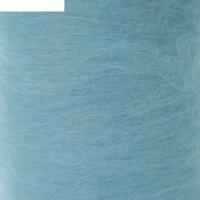 Шерсть для валяния кардочес 100% полутонкая шерсть 200гр (023 св. бирюзовы