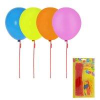 Воздушные шары, 17,5 см, набор с палочками (20 шаров+20 палочек), цвета ми