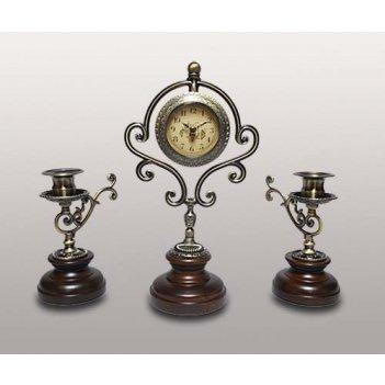 Набор-часы с 2 подсвечниками