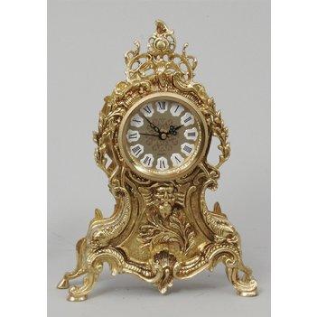 Часы из бронзы virtus мороз маленькие золото 30х20см 5475