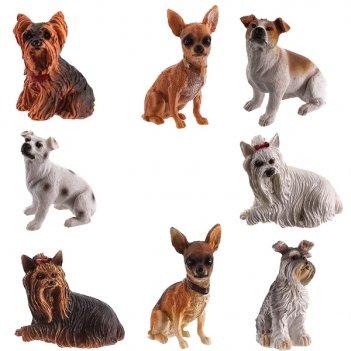 Фигурка декоративная собака, h4 см, 8 в. (без инд.упаковки)