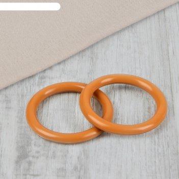 Кольцо для крепления штор, d карниза 28 мм, цвет «светлый дуб»