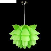 Люстра-подвес пион, зелёный, 1 лампа