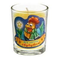 Свеча в стеклянном стаканчике все мечты сбудутся