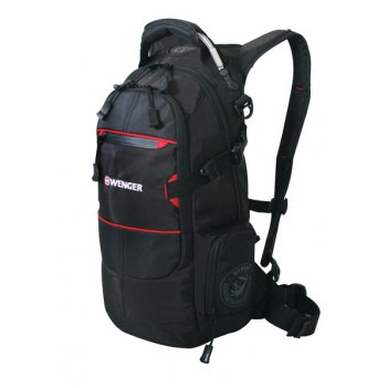 13022215 рюкзак wenger «narrow hiking pack» цв  чёрный, поли