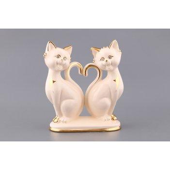 Фигурка пара белых кошек высота=26 см. (кор=6шт....