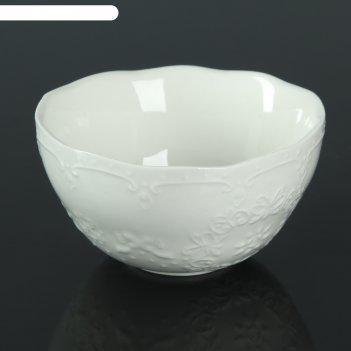 Миска кружева 11х11х5 см, цвет белый