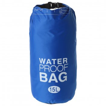Гермомешок водонепроницаемый 15 литров, плотность 23 мкр, цвет синий