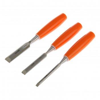 Набор стамесок плоских sparta, 3 шт, 6-12-18 мм