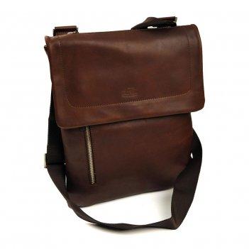 Сумка мужская цвет темно- коричневый 17030 gran carro 17003-2