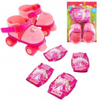 Ролики для обуви раздвижные, размер 15-21 см, колеса рvc d = 45 мм + защит