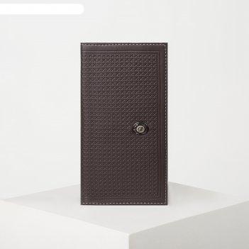 Портмоне муж клио, 9*1,5*18,5, 2 отд, д/карт, д/монет, коричневый