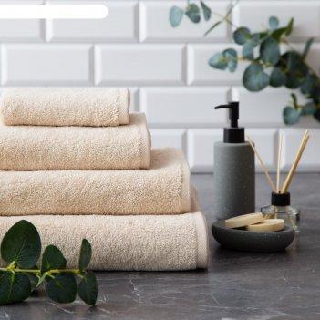 Полотенце махровое этель organic beige 70х130 см, 100% хл, 420гр/м2