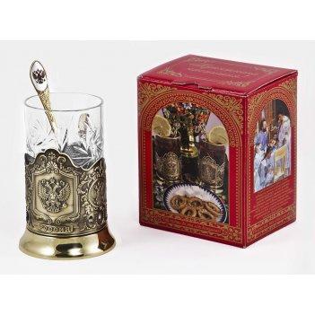 Набор для чая герб (3 пр.) арт. пд-89к-л