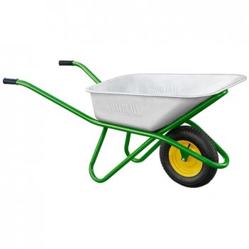 Тачка садово-строительная, одноколесная, усиленная, грузоподъемность 200 к