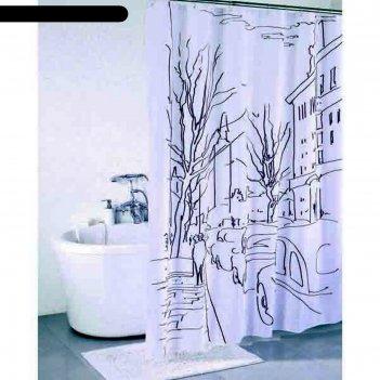 Штора для ванной комнаты 200х180 см street line