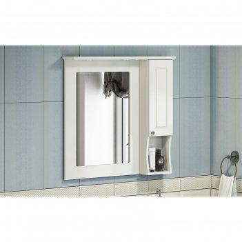 Зеркало-шкаф comforty «палермо-90» слоновая кость