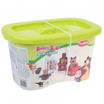 Конструктор маша и медведь, кухня мишки, 35дет 800057093