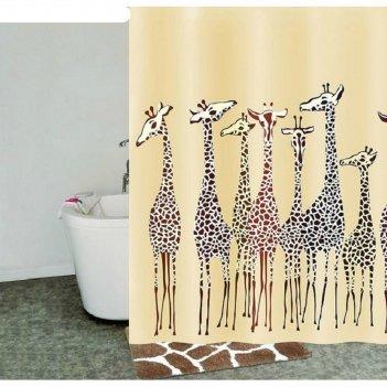 Штора для ванной комнаты 180х200 см safari friends