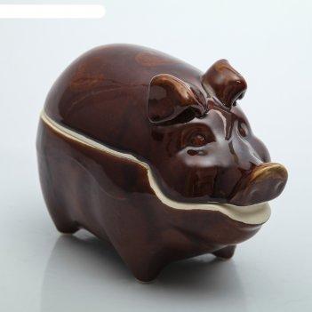 Жаровня свинка большая, 3 л