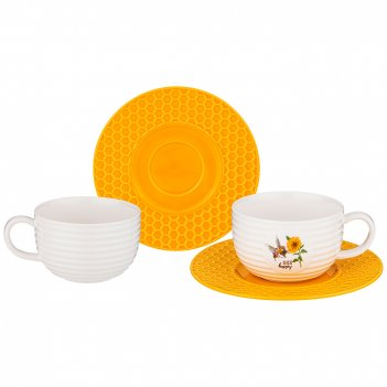 Чайный набор lefard honey bee на 2 пер. 4 пр. 240 мл