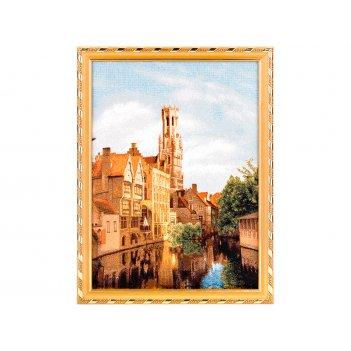 Гобеленовая картина брюгге 37х28 см