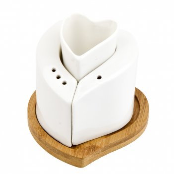 Набор для специй солонка/ перечница/ подставка для зубочисток naturel на б