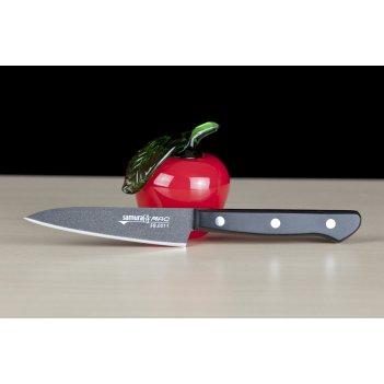 Нож кухонный овощной 100 мм samura by mac black fuso sb-0011