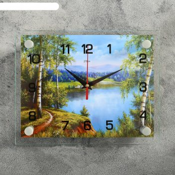 Часы настенные, серия: природа, природа, 20х26  см, микс