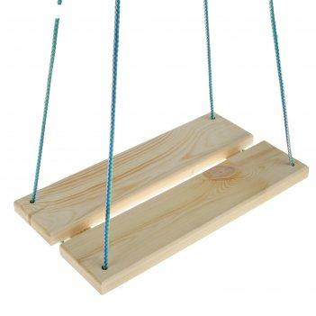 Качель  подвесная, деревянная 40х22см