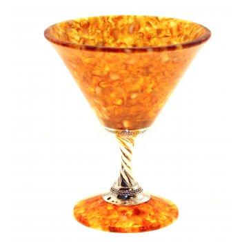 Фужер для мартини из янтаря