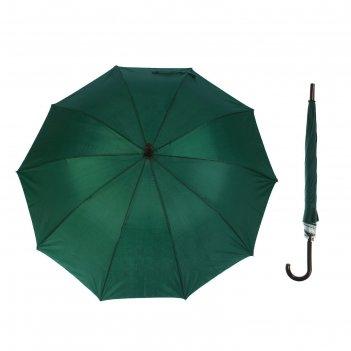 Зонт-трость, полуавтомат, r=56см, цвет зелёный