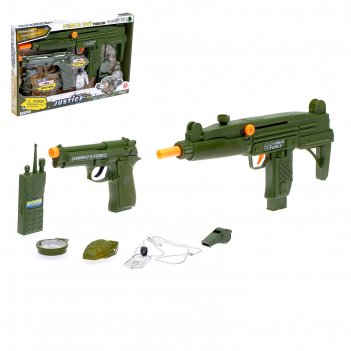 Набор оружия застава (автомат, пистолет, аксессуары), световой и звуковой