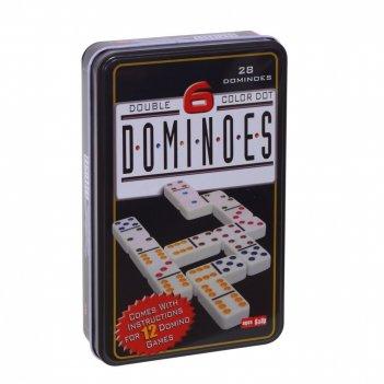 Настольная игра домино, 11х3,2х18 см
