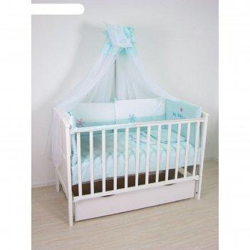 Комплект в кроватку «белые кудряшки», 7 предметов