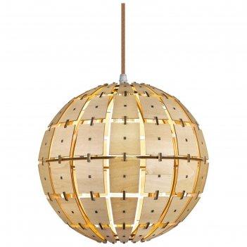 Светильник клара 1x60вт e27 натуральный, золото 30x30x150см