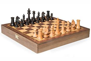 Шахматы турнирные на плоской доске, фигуры российские №2