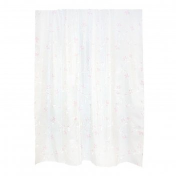 Штора для ванной комнаты тканевая 180х200 см elma
