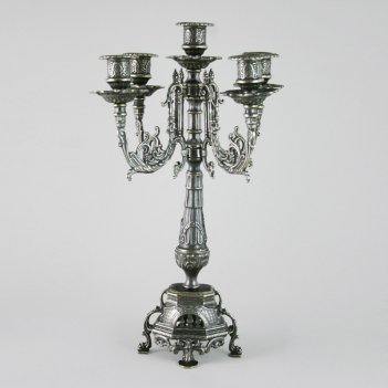 Канделябр на 5 свечей под бронзу ростра (al-82-099-ant)