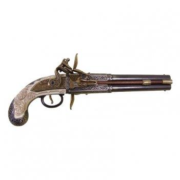 Пистоль  роловер  2-х ствольный , англия 1750 г.