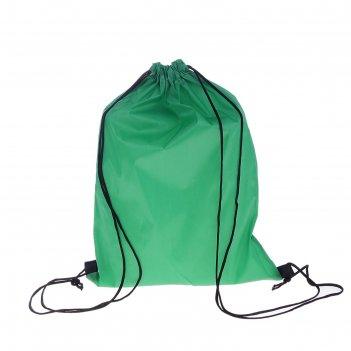 Рюкзак-мешок для обуви, шнурок, зеленый