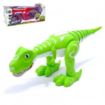 Динозавр-робот «эволюция», работает от батареек, световые и звуковые эффек