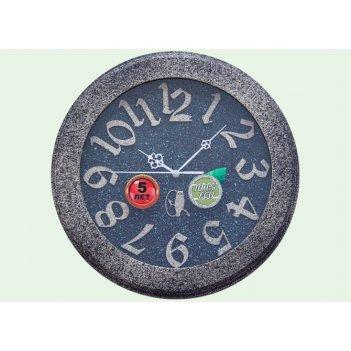 Часы настенные d35-415-камень