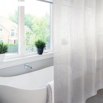 Штора для ванной 182х182 meiwa, krackle прозрачный